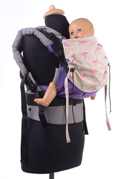 Huckepack Full Buckle toddler-lila Flamingos