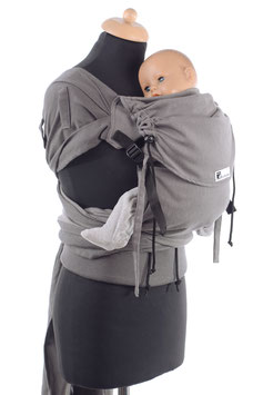 Huckepack Wrap Tai Medium-hellgrau/dunkelgrau (Standarddesign)