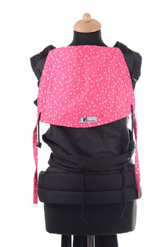 Huckepack Mei Tai Toddler-black/pink dots