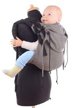 Huckepack Onbuhimo Preschooler-dunkelgrau/schwarz (Standarddesign)