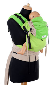 Huckepack Half Buckle Medium-grün/natur
