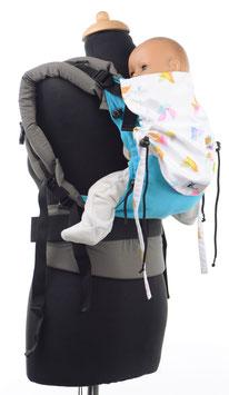 Huckepack Full Buckle Baby - türkis Vögel