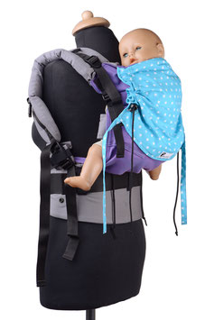 Huckepack Full Buckle Toddler-purple/turquoise stars