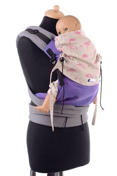 Huckepack Half Buckle Toddler-Flamingos