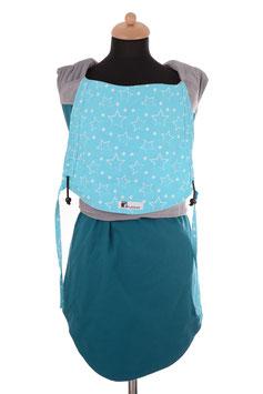 Huckepack Podaegi-emerald/hellblaue Sterne