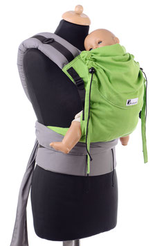 Huckepack Half Buckle Toddler- apfelgrün/grau  (Standarddesign)
