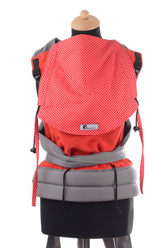 Huckepack Mei Tai Toddler-red dots