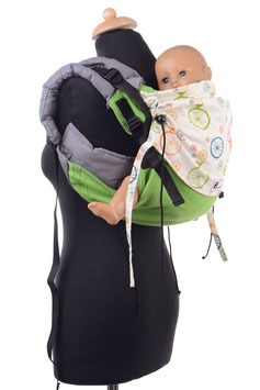 Huckepack Onbuhimo Toddler-green/wheels