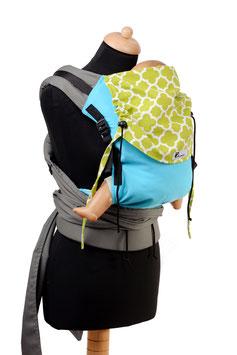 Huckepack Half Buckle Toddler - türkis/grün gemustert