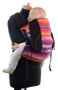 Huckepack Half Buckle Toddler - Chichi rot/braun