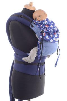 Huckepack Half Buckle Baby - blau Boote
