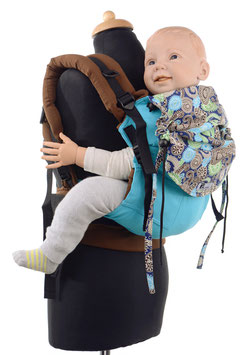 Huckepack Full Buckle Toddler - turqouise/brown floral