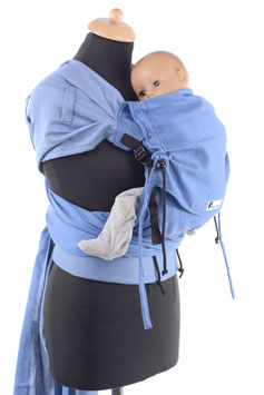 Huckepack Wrap Tai Medium-light blue/blue (standard design)