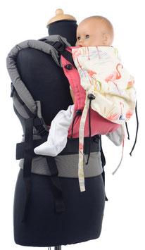 Huckepack Full Buckle Baby - pink Flamingos