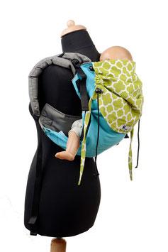 Huckepack Onbuhimo Medium-türkis/grün gemustert