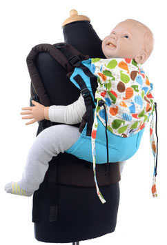 Huckepack Full Buckle Medium - türkis / bunte Vögel