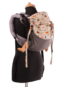 Huckepack Onbuhimo Medium-grey forest animals