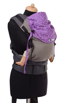 Huckepack Half Buckle Toddler - grau /lila Sterne