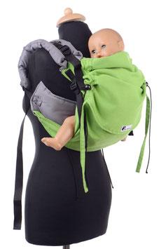 Huckepack Onbuhimo Toddler-apfelgrün/grau  (Standarddesign)