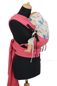 Huckepack Wrap Tai Medium-pink Flamingos