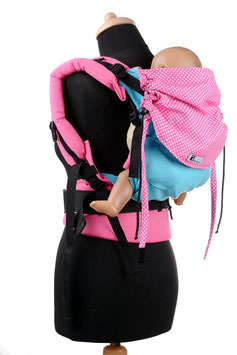 Huckepack Full Buckle Medium-türkis/pinke Punkte