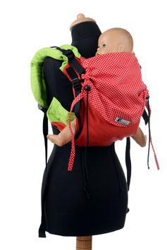 Huckepack Onbuhimo Medium - grün/rote Punkte