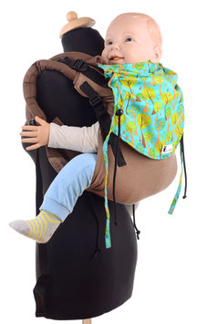 Huckepack Onbuhimo Toddler-brown/turquoise trees