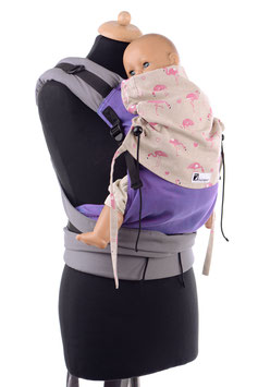 Huckepack Half Buckle medium-lila/pink Flamingos