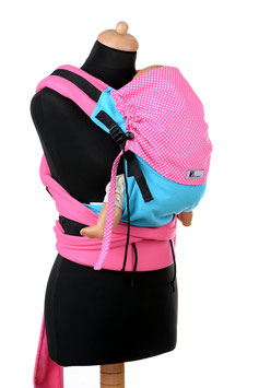 Huckepack Half Buckle Toddler-turquoise/pink dots