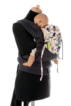 Huckepack Wrap Tai Baby-schwarz Maulwurf