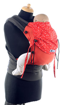 Huckepack Half Buckle Baby - rot Sterne