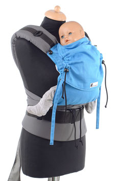 Huckepack Half Buckle Baby-türkis/grau (Standarddesign)