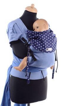 Huckepack Wrap Tai Toddler-hellblau/blau Sterne