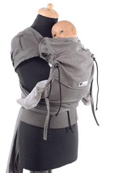 Huckepack Wrap Tai Baby-grau (Standarddesign)