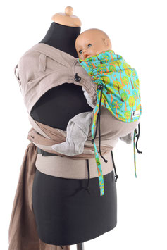 Huckepack Wrap Tai Baby-türkise Bäume