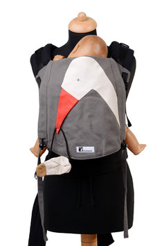 Huckepack Half Buckle Toddler-Stork with baby
