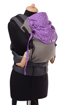 Huckepack Half Buckle Toddler-grey/purple stars