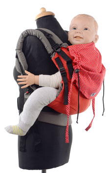 Huckepack Full Buckle Toddler - red dots