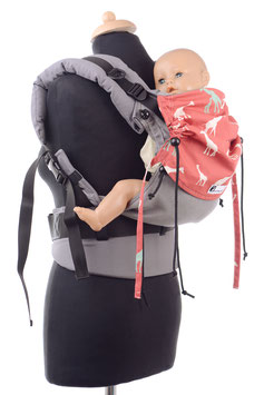 Huckepack Full Buckle Baby - grey giraffes