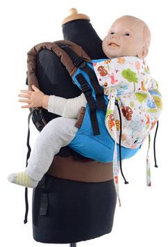 Huckepack Full Buckle Toddler - türkis Waldtiere