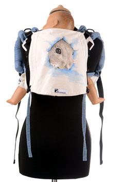 Huckepack Onbuhimo Medium-Mäuschen (handgemaltes Unikat)