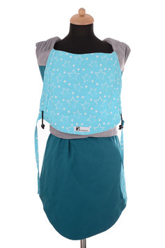 Huckepack Podaegi-emerald/light blue stars