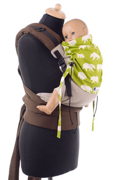 Huckepack Half Buckle Toddler-green bears