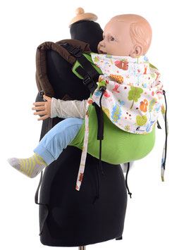 Huckepack Onbuhimo Toddler-green/ forest animals