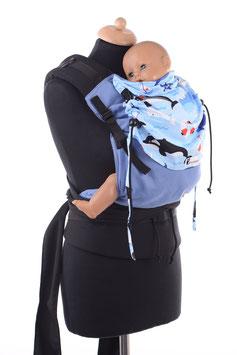 Huckepack Half Buckle Toddler-blau/Orkas, Wale