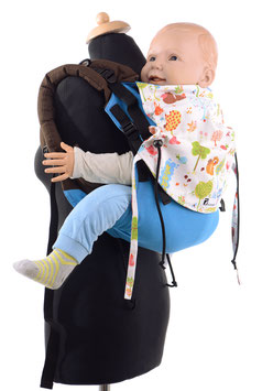 Huckepack Onbuhimo Toddler-turquoise forest animals