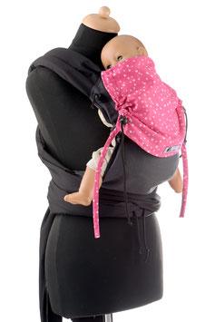 Huckepack Mei Tai Baby-black/pink stars