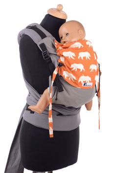 Huckepack Half Buckle Medium-grey/orange bears