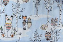Forest animals blue
