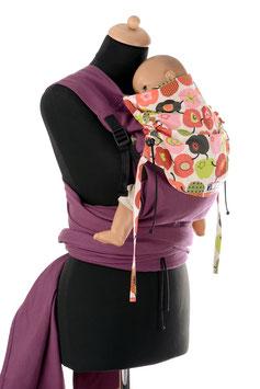 Huckepack Wrap Tai Toddler-lila Äpfel